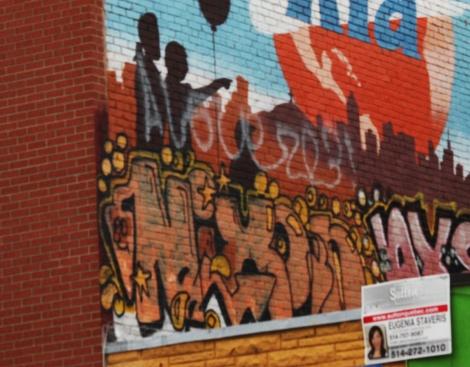 Nixon graffiti on Bélanger