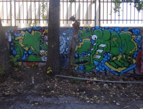 Nixon graffiti in a Plateau alley