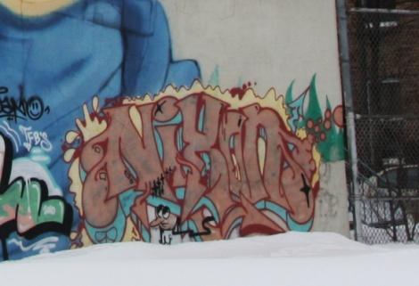 Nixon graffiti in Mile End