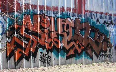 Nixon graffiti in Ville-Marie