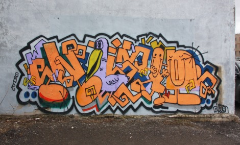 Nixon piece in a NDG / Cote des Neiges parking space