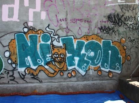 Nixon graffiti near Maguire