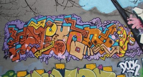 Nixon graffiti in Rosemont