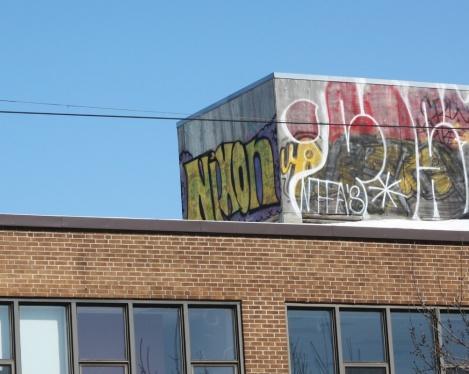 Nixon graffiti on a Plateau roof