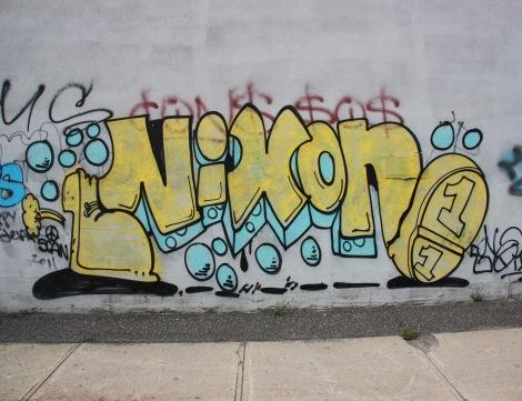 Nixon graffiti on Ottawa