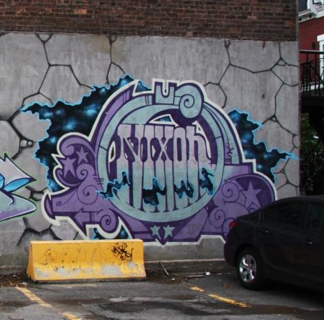 Nixon graffiti on St-André