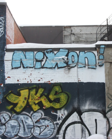 Nixon graffiti in the Plateau