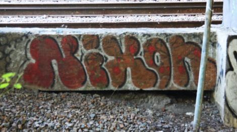 Nixon throw-up by train tracks in Rosemont