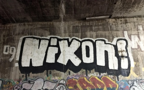 Nixon throw found inside train tunnel