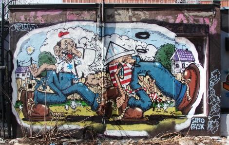 Nixon on Wurtele near de Rouen legal graffiti tunnel
