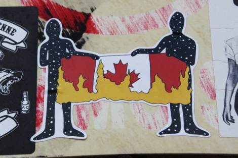Zola and Swarm collaboration sticker for the 150th anniversary of Canada