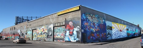 graffiti walls on Cabot and Gilmore, general view