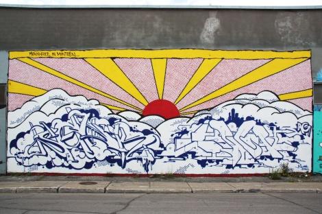 AG Crew mural on Gilmore