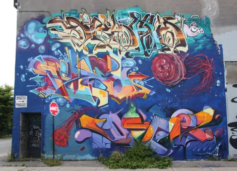 K6A wall on Gilmore featuring Serak (top), Fleo (middle) and Oser (bottom)