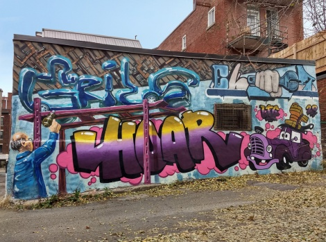 Grils, Hoar and EK Sept collaborative wall in Villeray