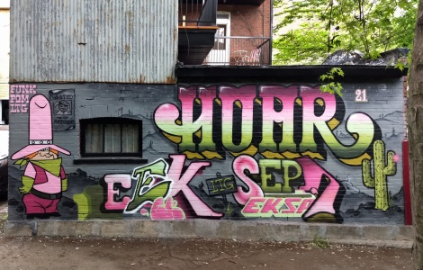 Hoar and EK Sept collaboration in a Plateau alley
