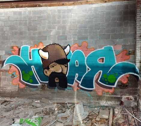 Hoar in an abandoned place