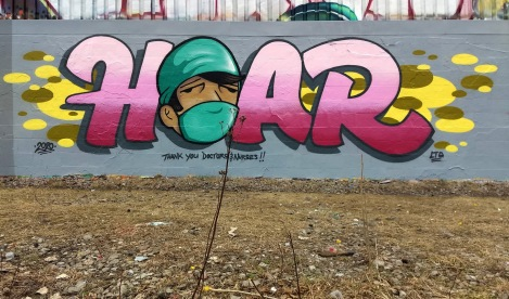 Hoar in Rosemont, a tribute to the doctors and nurses on the frontline during the Covid-19 crisis