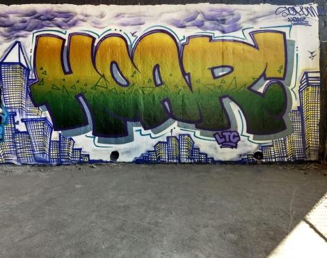 Hoar at the Papineau legal graffiti wall