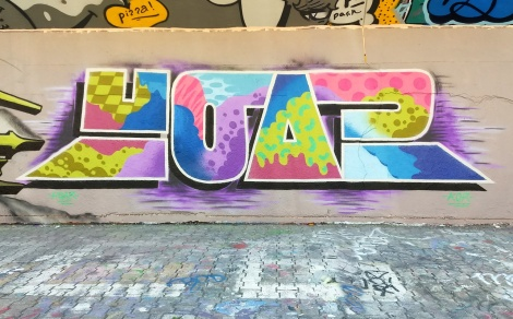Hoar at the PSC legal graffiti wall