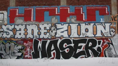 Graffiti by HRKR (HoarKor), Sane, Zion, Waser, amongst others