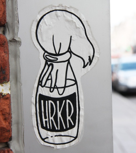 small paste-up by HRKR