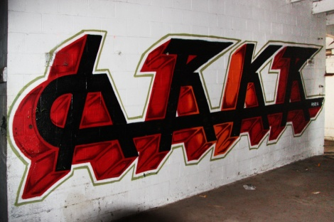 Hrkr aka Hoarkor piece found at the abandoned Montreal Hippodrome