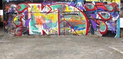 Kor at the Papineau legal graffiti wall