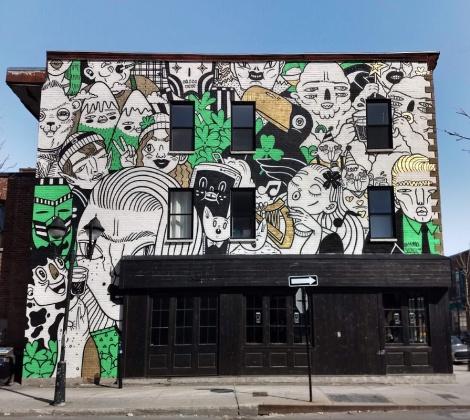 Mono Sourcil mural in Hochelaga