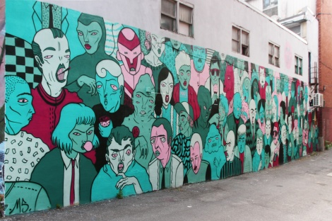 Mono Sourcil's mural for the 2017 edition of Mural Festival
