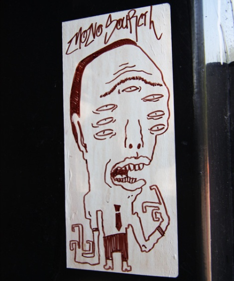 small paste-up by Mono Sourcil