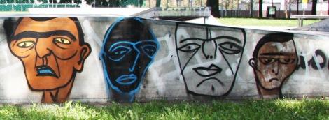Mono Sourcil in Parc des Royaux, detail