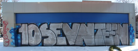 10sevnteen graffiti mural on Mont-Royal