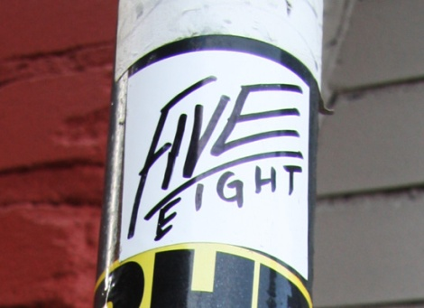 Five Eight sticker
