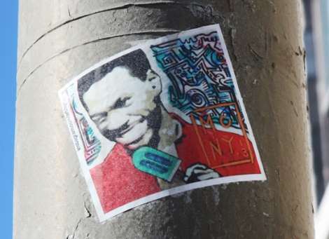 Mony Zakhour sticker, various locations