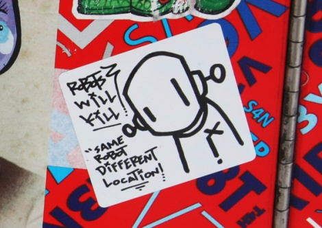 RWK aka Robots Will Kill sticker