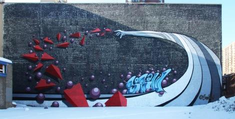 SamyBaichy / SoRaw mural on Sherbrooke