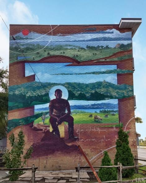 Monk.e mural in Ahuntsic-Cartierville