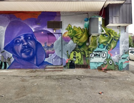 Monk.e featuring Astro (bottom right characters) in Hochelaga