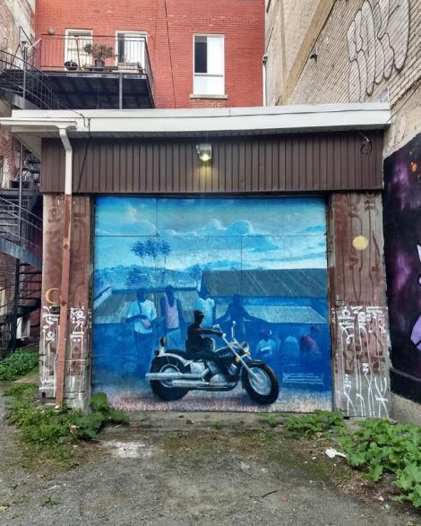 garage door by Monk.e in Mile End