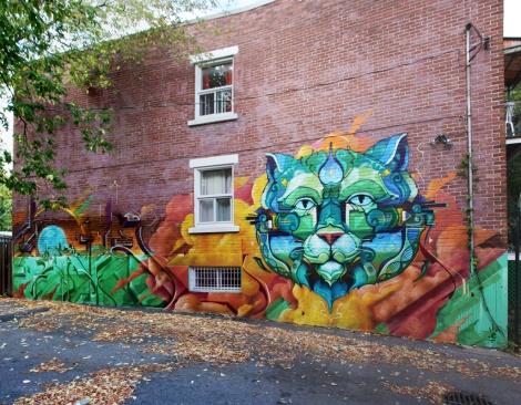 Monk.e mural in Rosemont