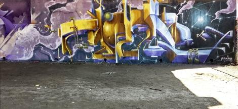 Monk.e at the Papineau legal graffiti wall