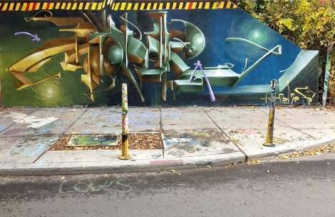 Monk.e at the Rouen legal graffiti tunnel