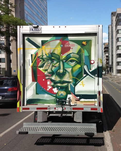 back of truck by Monk.e