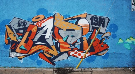 Klor piece on 123Klan x A'Shop wall on the Plateau