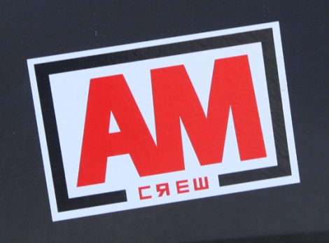 AM crew sticker