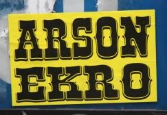 Ekro Arson sticker