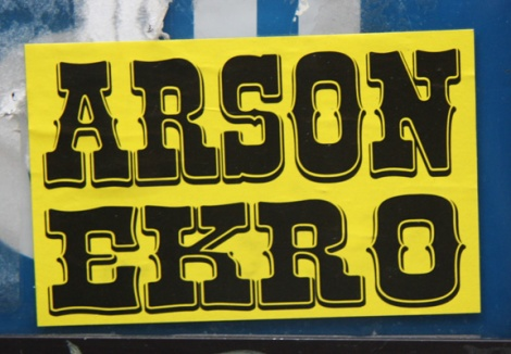 Ekro Arson sticker