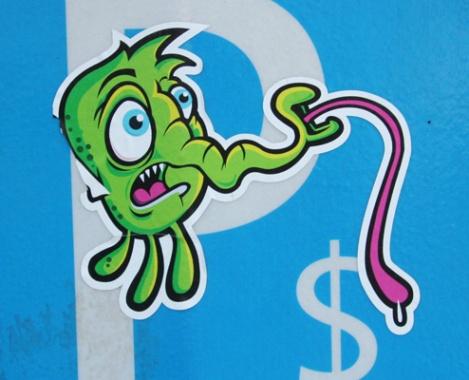 Bezoman sticker