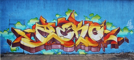 Zek piece on 123Klan x A'Shop wall on the Plateau